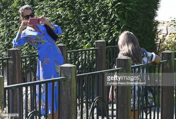 Paula Echevarria and her daughter Daniella Bustamante attend a Christening on October 14 2017 in Pontedeume Spain