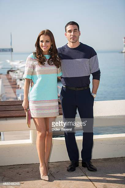 Paula Echevarria and Miguel Angel Silvestre pose during the photocall of 'Velvet' at MIPTV 2014 at Hotel Majestic on April 7, 2014 in Cannes, France.