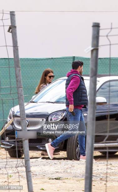 Paula Echevarria and Miguel Torres are seen on April 01 2019 in Madrid Spain