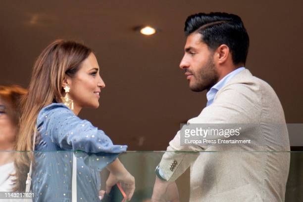 Paula Echevarria and Miguel Torres are seen on April 15 2019 in Malaga Spain