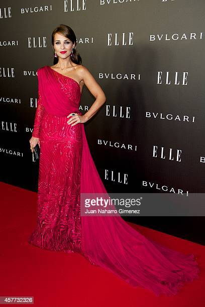 Paula Echevarria attends Elle Style Awards 2014 photocall at Italian Embassy on October 23 2014 in Madrid Spain