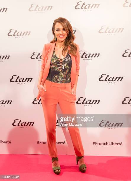 Paula Echevarria attends ETAM new collection presentation on April 10 2018 in Madrid Spain