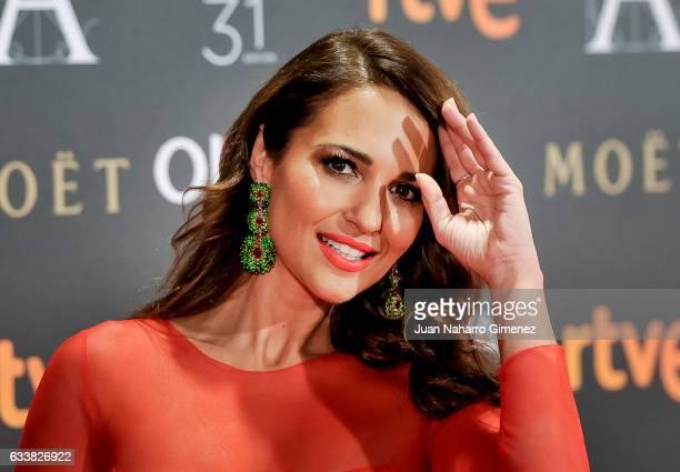 Paula Echevarria attends Goya Cinema Awards 2017 at Madrid Marriott Auditorium on February 4 2017 in Madrid Spain