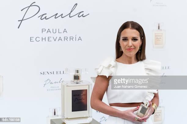 Paula Echevarria attends 'Sensuelle' fragance presentation at Gran Melia Palacio De Los Duques Hotel on April 5 2017 in Madrid Spain