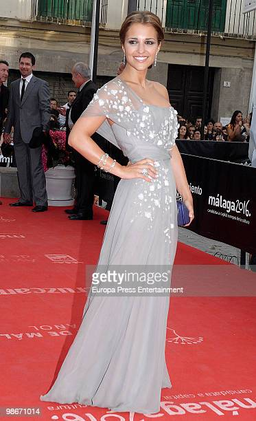 Paula Echevarria attends the 13th Malaga Film Festival on April 26 2010 in Malaga Spain