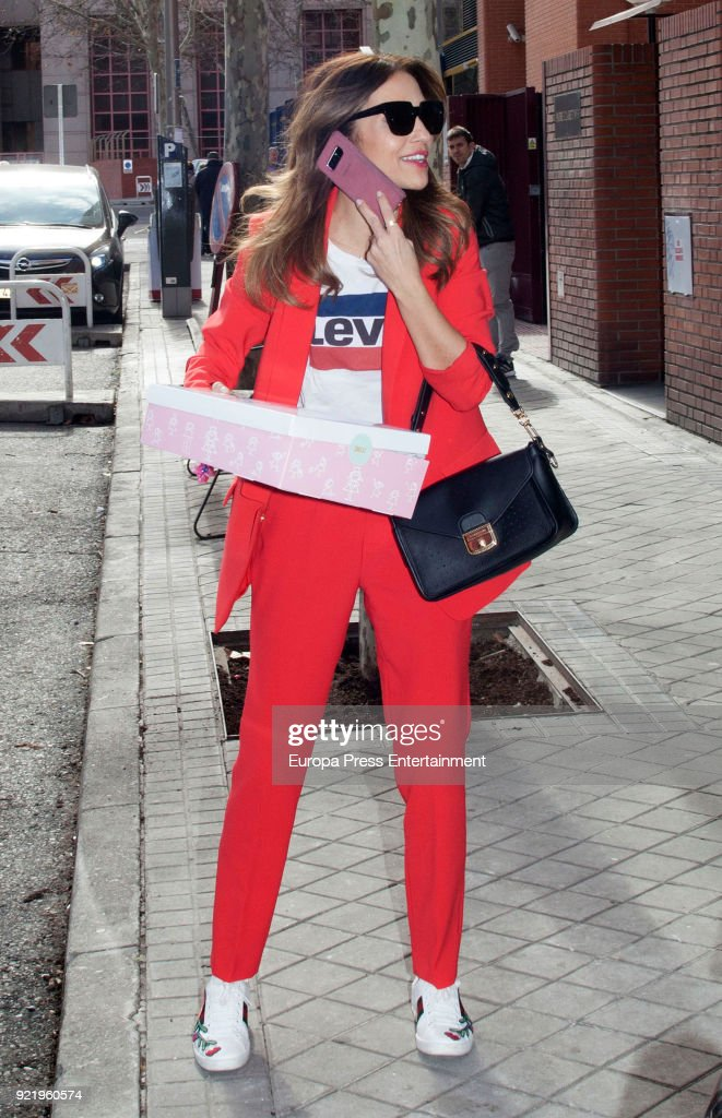 Celebrities Sighting In Madrid - February 20, 2018 : News Photo