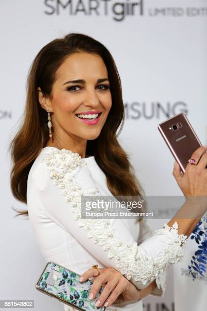 Paula Echevarria attends the presentation of SAMSUNG smartgirl limited edition on November 28 2017 in Madrid Spain