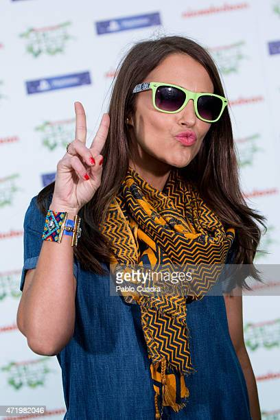 Paula Echevarria attends the Slime Festival at the Barclaycard Center on May 2 2015 in Madrid Spain