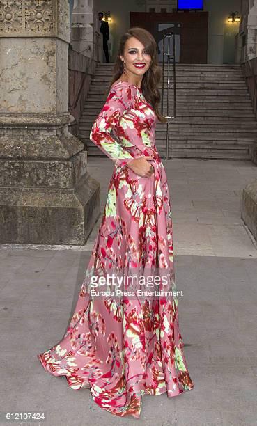 Paula Echevarria attends the wedding ceremony of Marta Hazas and Javier Veiga at Palacio de la Magdalena on October 1 2016 in Santander Spain