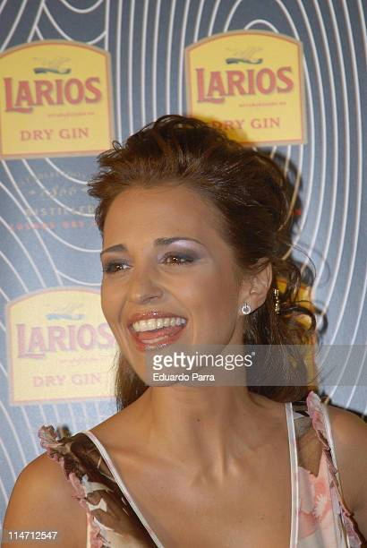 Paula Echevarria during Calendario Larios Launch Party Febraury 13 2007 at Arola Madrid Restaurant in Madrid Spain
