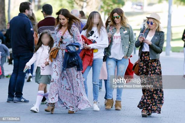 Paula Echevarria her daughter Daniela Bustamante and Isabel Navarro are seen on May 1 2017 in Madrid Spain