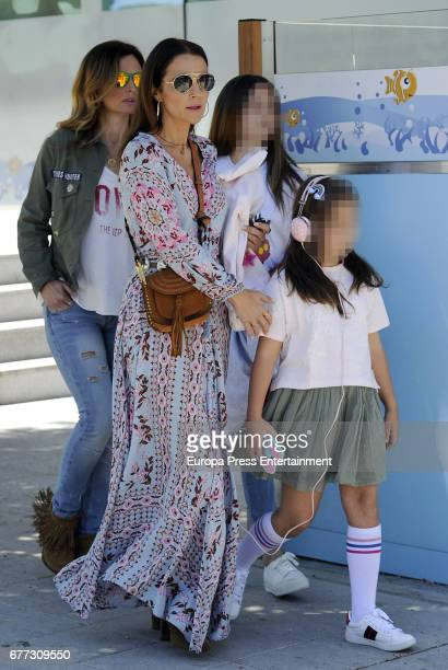 Paula Echevarria her daughter Daniella Bustamante and Isabel Navarro are seen on May 1 2017 in Madrid Spain