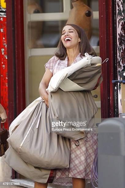 Paula Echevarria is seen during the set filming of 'Galerias Velvet' on June 01, 2015 in Madrid, Spain.