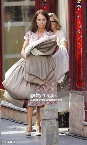 Paula Echevarria is seen during the set filming of 'Galerias Velvet' on June 01 2015 in Madrid Spain