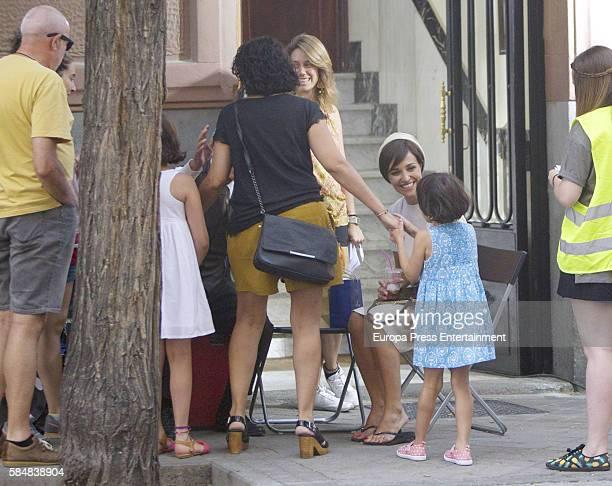 Paula Echevarria is seen during the set filming of Galerias Velvet on July 12 2016 in Madrid Spain