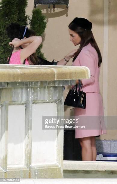 Paula Echevarria is seen during the set filming of Galerias Velvet on May 16 2017 in Madrid Spain