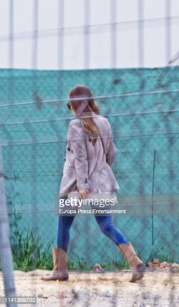 Paula Echevarria is seen on April 01 2019 in Madrid Spain