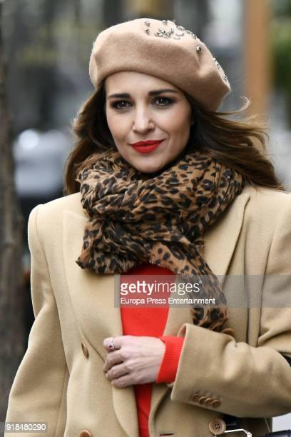 Paula Echevarria is seen on February 14 2018 in Madrid Spain