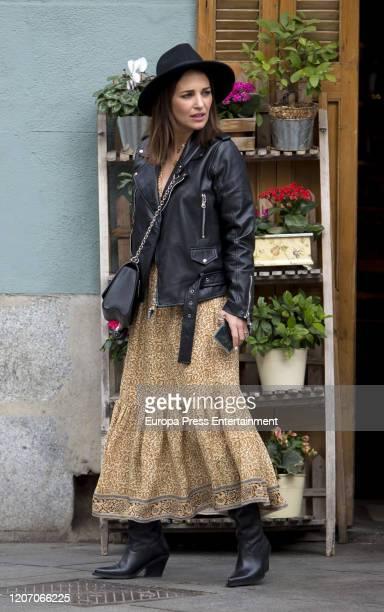 Paula Echevarria is seen on February 17 2020 in Madrid Spain