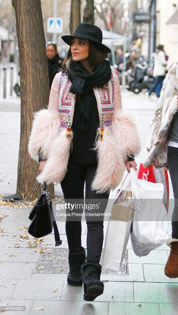 Celebrities Sighting In Madrid - January 15, 2015 : News Photo