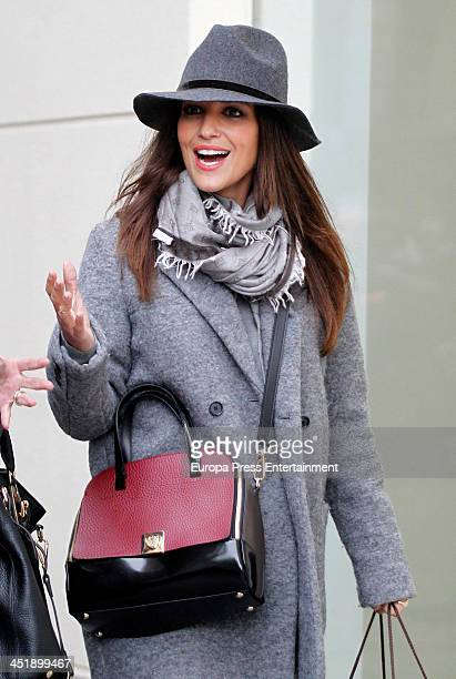 Paula Echevarria is seen on November 08 2013 in Madrid Spain
