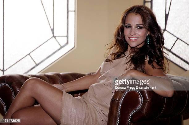 Paula Echevarria is seen on set filming 'Galerias Velvet' on June 24 2013 in Madrid Spain