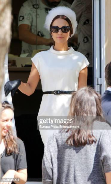 Paula Echevarria isseen during the set filming of Galerias Velvet on May 19 2017 in Madrid Spain
