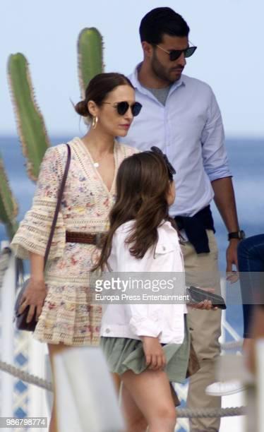 Paula Echevarria Miguel Torres and Daniella Bustamante are seen on April 30 2018 in Marbella Spain
