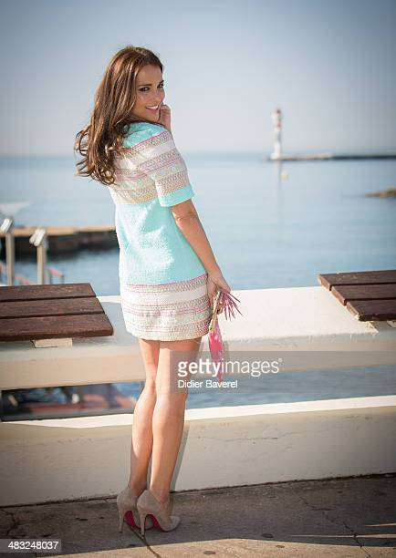 Paula Echevarria poses during the photocall of 'Velvet' at MIPTV 2014 at Hotel Majestic on April 7 2014 in Cannes France