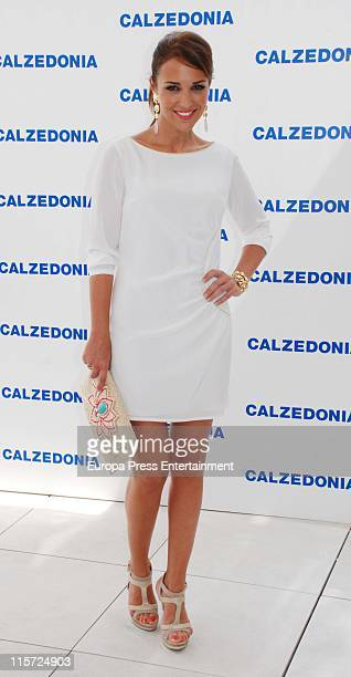 Paula Echevarria presents Calzedonia's Summer Party on June 9 2011 in Madrid Spain