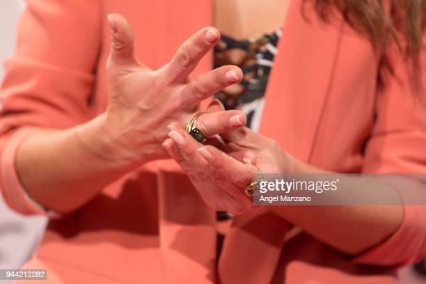 Paula Echevarria ring detail attends ETAM new collection presentation on April 10 2018 in Madrid Spain