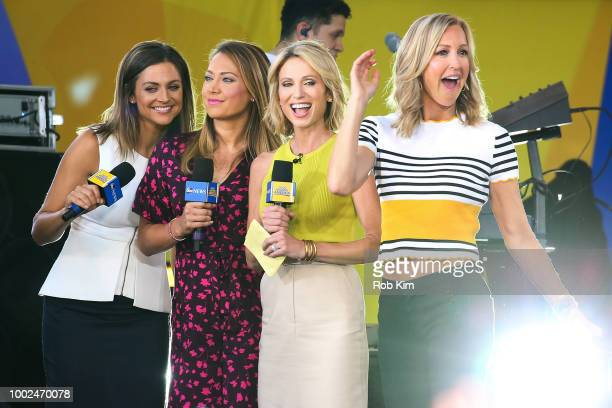 Paula Faris Ginger Zee Amy Robach and Lara Spencer of ABC's 'Good Morning America' at SummerStage at Rumsey Playfield Central Park on July 20 2018 in...