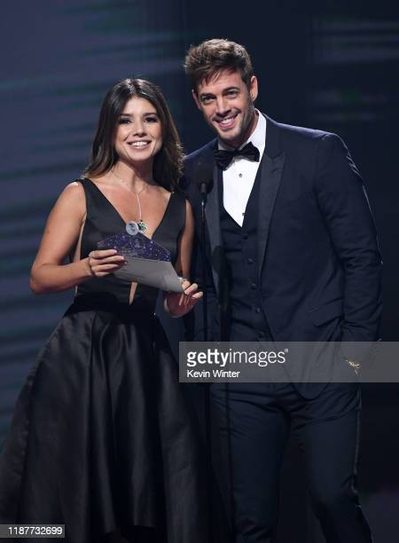 Paula Fernandes and William Levy present the Urban Album Award onstage during the 20th annual Latin GRAMMY Awards at MGM Grand Garden Arena on...