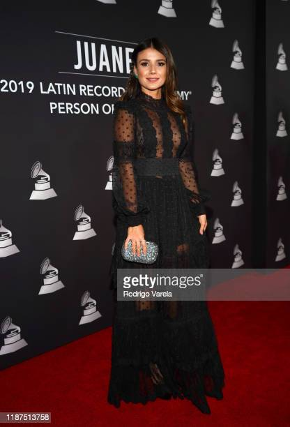 Paula Fernandes attends the Latin Recording Academy's 2019 Person of the Year gala honoring Juanes at the Premier Ballroom at MGM Grand Hotel Casino...
