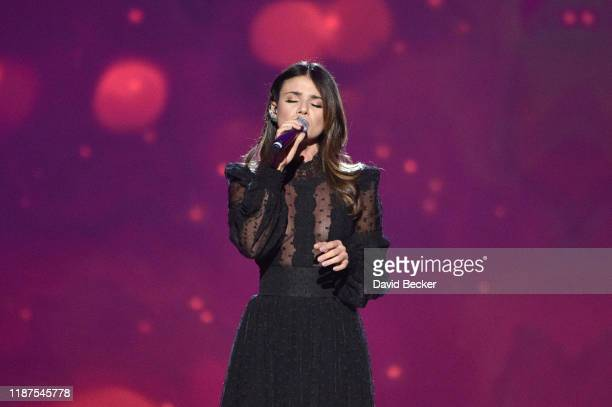 Paula Fernandes performs onstage during the Latin Recording Academy's 2019 Person of the Year gala honoring Juanes at the Premier Ballroom at MGM...
