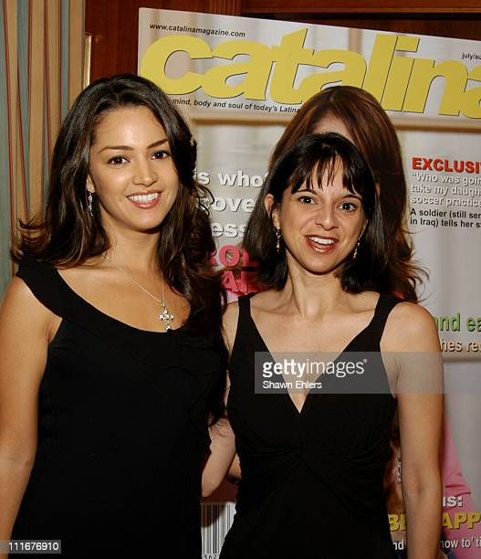 Paula Garces and Cathy Areu during Catalina Magazine's Essence of Latinas Tour New York Tour Stop at Princeton Club in New York City New York United...