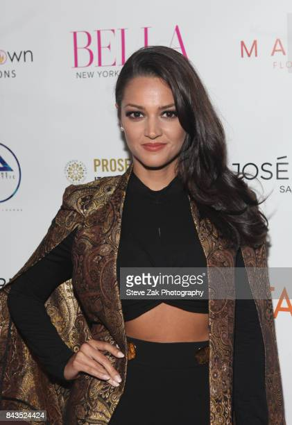 Paula Garces attends Bella Magazine NYFW Kickoff Party at The Attic Rooftop Lounge on September 6 2017 in New York City