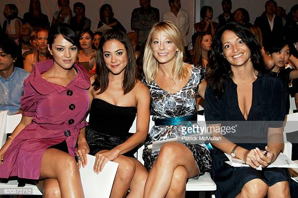 Paula Garces Camille Guaty Anastasia Griffith and Emma SnowdonJones attend CYNTHIA STEFFE Spring 2009 Fashion Show at The Salon on September 9 2008...