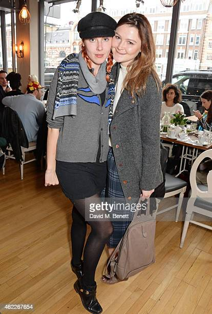 Paula Goldstein and Amber Atherton attend 'Affirmation Mondays' hosted by Poppy Jamie and Greta Bellamacina at Aubaine on January 26 2015 in London...