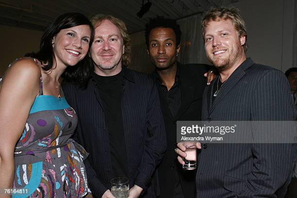 Paula Gould Photographer Glen Wexler Kerry Wayne James and Jason Stafford at the Smashbox and Quixote Merger Party held at the Smashbox Studios on...
