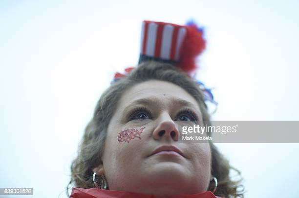 Paula Grant poses for a portrait near the National Mall before the inauguration of Donald Trump as the 45th President of the United States January 20...