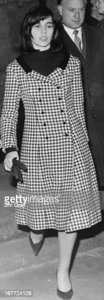Paula HamiltonMarshall a friend of English former model and showgirl Christine Keeler after a hearing at The Old Bailey London 5th December 1963...