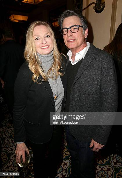 Paula Harwood and actor Peter Gallagher attend Ketel One Vodka Celebrates Excellence In Cinema with 'Spotlight' PreGolden Globe Celebration at...