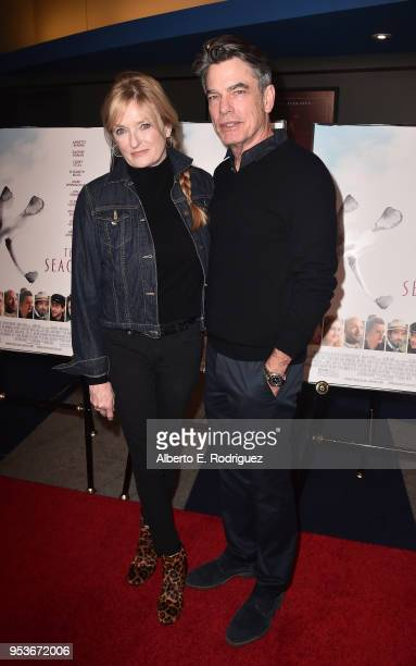 Paula Harwood and actor Peter Gallagher attend the premiere of Sony Pictures Classics' 'The Seagull' at The Writers Guild Theater on May 1 2018 in...