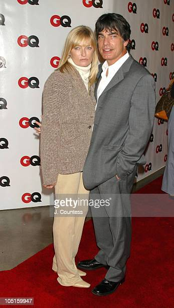 Paula Harwood and Peter Gallagher during GQ Celebrates September Debut Issue Under New Editor and Chief Jim Nelson at Hudson Studios in New York New...