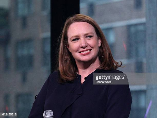 Paula Hawkins appears to promote The Girl On The Train during the AOL BUILD Series at AOL HQ on October 4 2016 in New York City