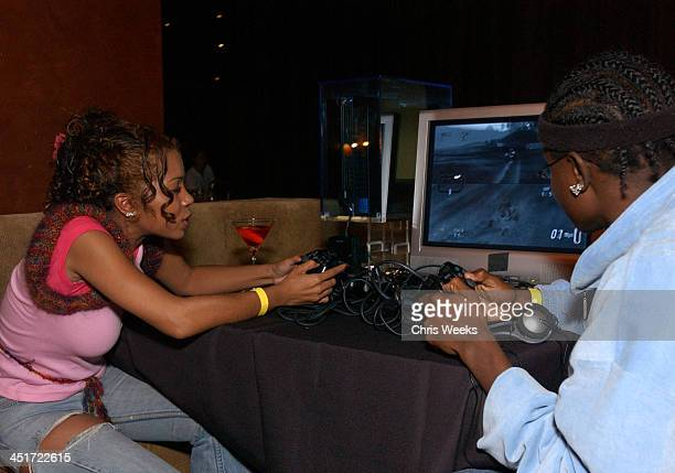 Paula J Parker during Wayne Brady Hosts Holiday PlayStation 2 Gaming Party at The Highlands in Hollywood California United States