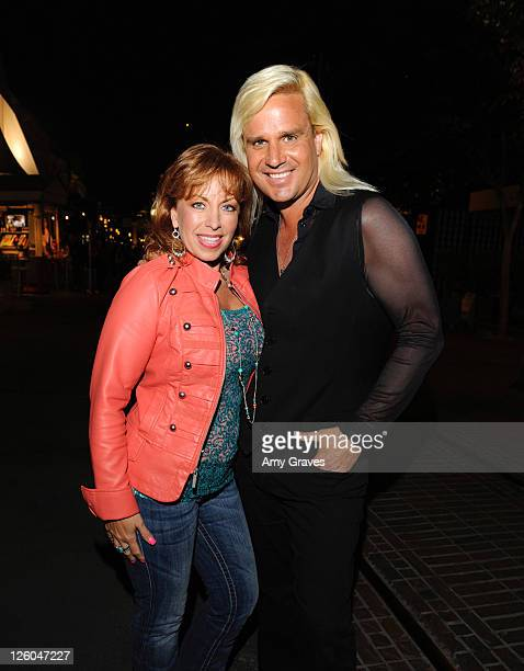 Paula Jones and television personality Daniel DiCriscio are seen on the street on April 27 2011 in Los Angeles California