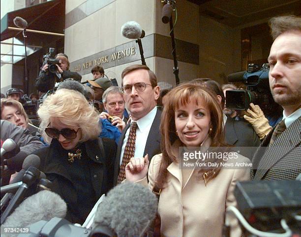 Paula Jones arrives for depositions in her lawsuit against President Clinton