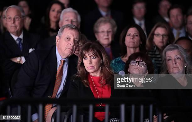 Paula Jones Kathleen Willey and Juanita Broaddrick watch the town hall debate at Washington University on October 9 2016 in St Louis Missouri This is...